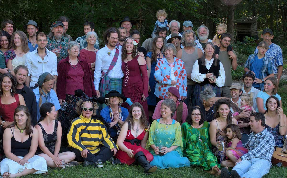Wedding party at Earthaven Ecovillage