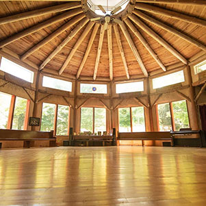 Inside the Earthaven Council Hall