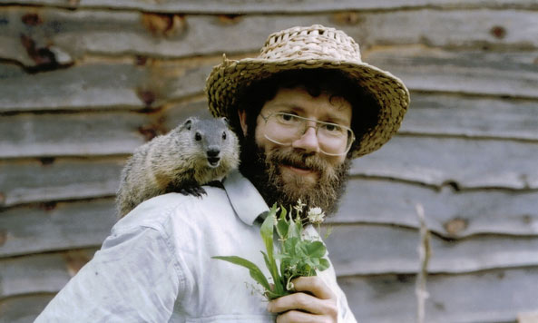 Doug Elliott and ground hog