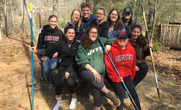 Keene State students in customized educational program at Earthaven Ecovillage