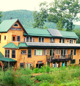 Large community housing building at Earthaven Ecovillage