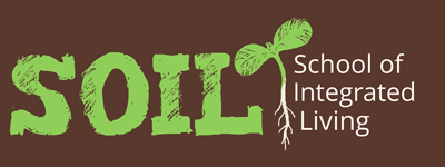 SOIL logo featuring hand drawn seedling and roots