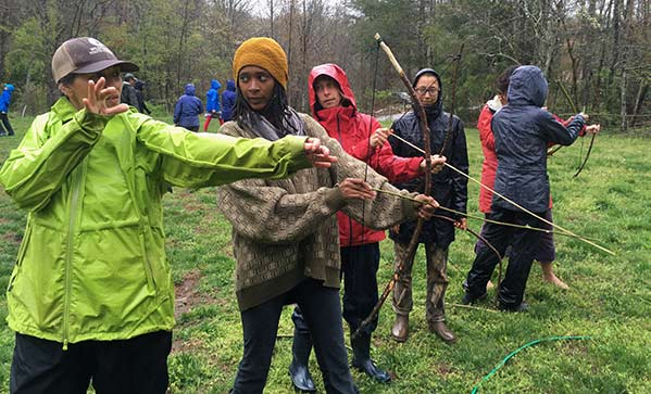 Archery class at Reaching Nature Connection Workshop