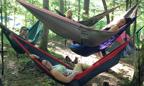 Hammocks at the Earthaven campground