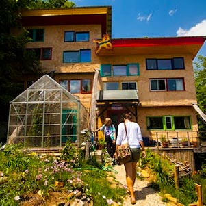Natural-built condo at Earthaven Ecovillage