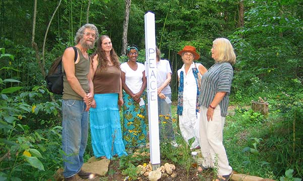 Peace pole at Earthaven Ecovillage