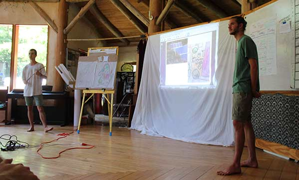 Permaculture design presentation at Earthaven Ecovillage