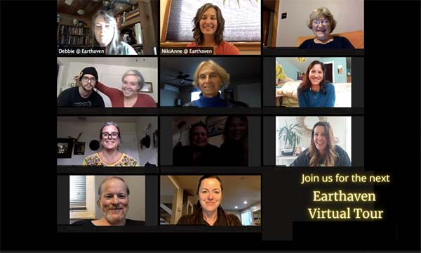 Earthaven Virtual tour Zoom screen